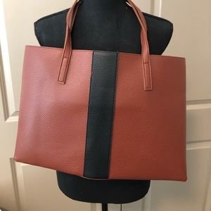 Brown/Black Vince Camuto Leather Bag